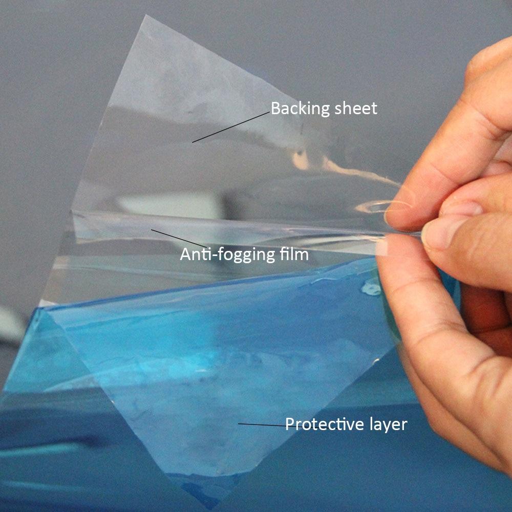 protetora anti nevoeiro janela filme transparente espelho