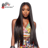 Sunnymay Silk Base Full lace Human Hair Wigs Peruvian Virgin Hair Silk Straight Bleached Knots Glueless Full Lace Wigs