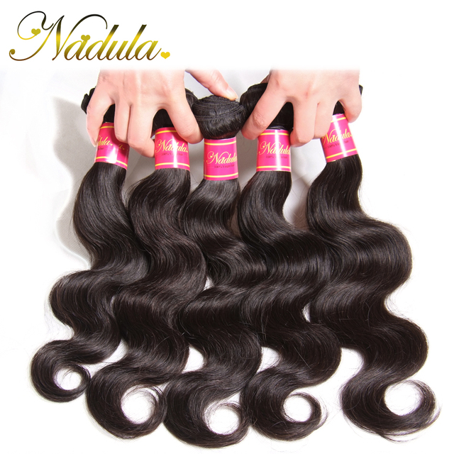 Brazilian Body Wave 5 Bundles Of  Virgin Brazilian Hair 7A Nadula Brazilian Virgin Hair Body Wave,Can Be Dyed and Bleached