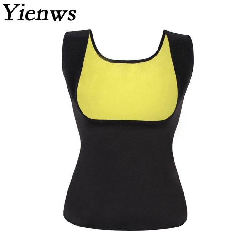 Yienws Hot Neoprene Body Shapers For Women Vest Waist Trainer Corset Slimming Vest Shapewear Loss Weight Modeling Belt YiZ02