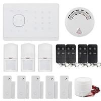 DIYSECUR Smoke Sensor APP/ SMS Remote Controlled Wireless GSM Home Security Alarm System