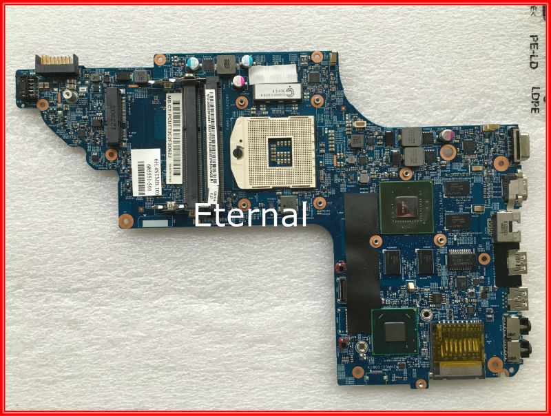 685551-501 For HP DV6 DV6-7000 laptop motherboard 48.4ST10.031 fully tested working