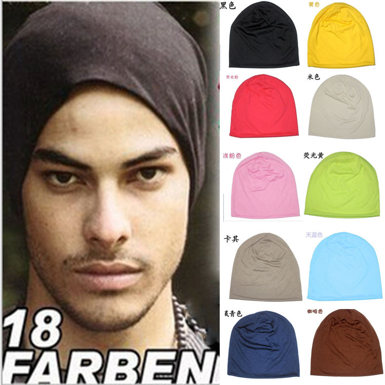 New 2017 Unisex Skullies Beanies Man Soild Cotton Casual Hat Men Knitted Cap Male Hip-hop Fashion Brand skullies
