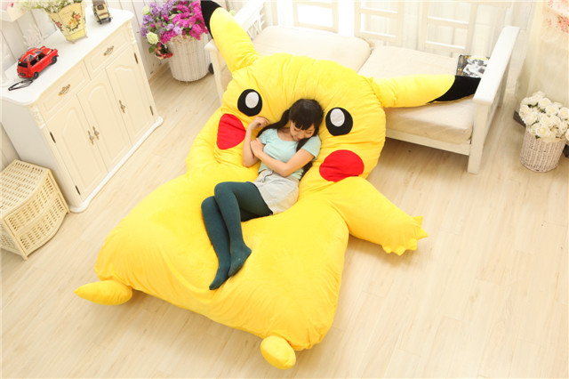 Image 4 - Lovely Pikachu Mattress Totoro Lazy Sofa Cushion Mat Soft Cartoon Bed Child Tatami Cute Toys For Kid-in Mattresses from Furniture