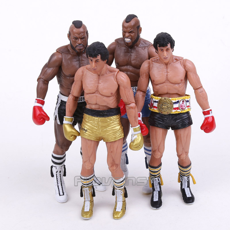 NECA Rocky III ROCKY BALBOA CLUBBER LANG 40th Anniversary PVC Action Figure Collectible Model Toy 7 18cm