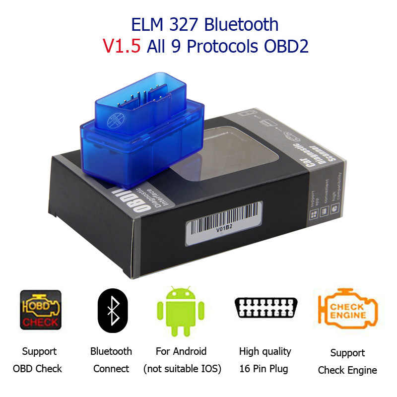Super Mini ELM327 Bluetooth elm 327 V1.5 z chipem 25k80 Mini ELM-327 Auto skaner diagnostyczny OBD2 mini ELM-327 dla androida
