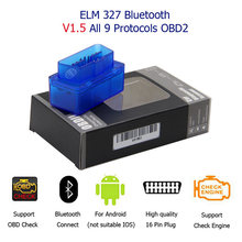 Super Mini ELM327 Bluetooth elm327 V1.5 con 25k80 chip Mini ELM-327 de OBD2 escáner de diagnóstico de mini ELM-327 para Android(China)