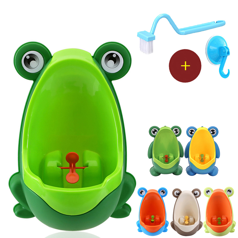 Baby Kid Infant Toddler Toilet Frog Urinal-boy Stand Vertical Pinico Menino Potty Training Children Pee Portable Toilet Potty 1pcs urinal gogirl go girl woman urination device 9 5cm stand up pee fud camping travel portable female tiolet