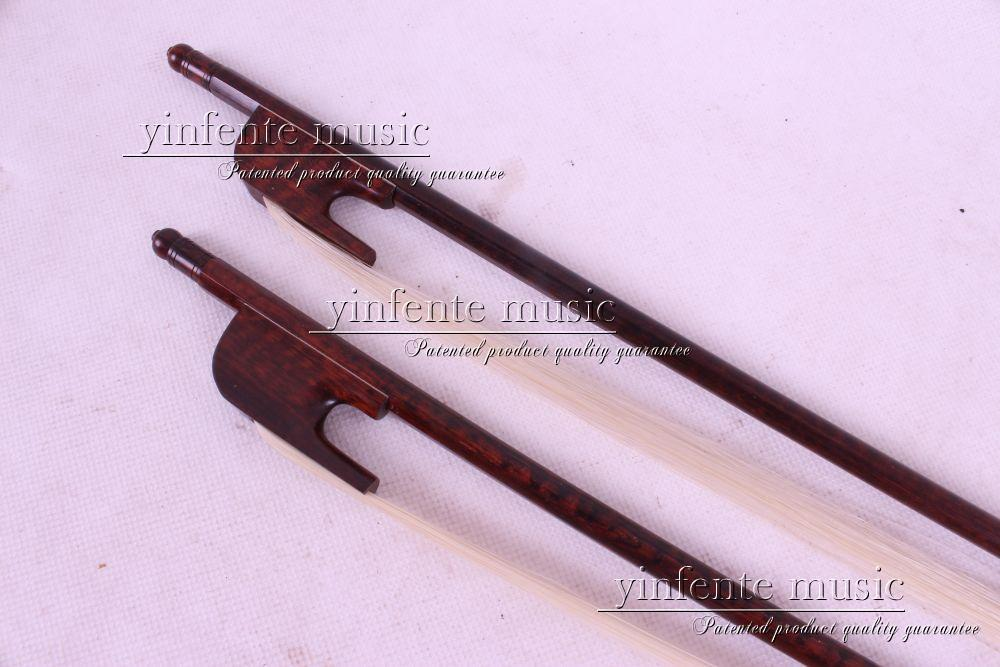 new 2  pcs The high quality of the Baroque Violin Bow    Brazilwood Round Stick New 4/4 8 # 1 pcs brazilwood violin bow 4 4 straight best model fr og round stick xd 033