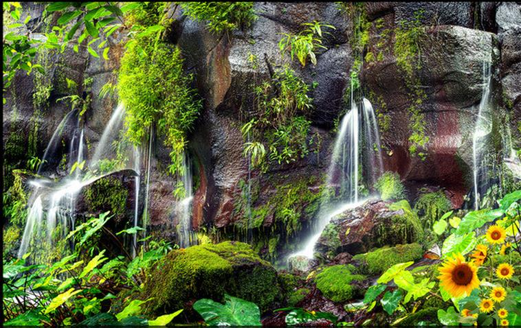 Unduh 520 Background Air Terjun Hijau Gratis
