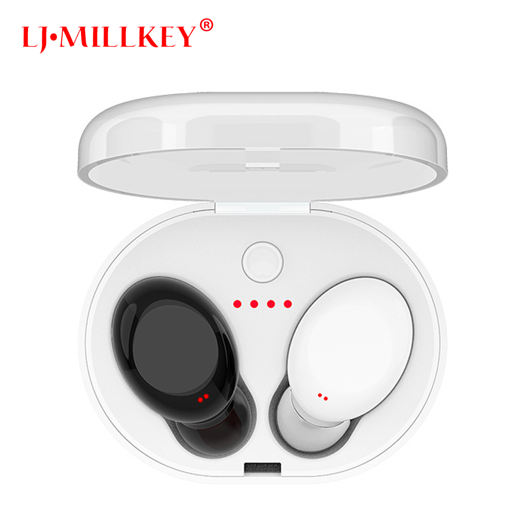 Newest Twins True Wireless Earbuds Mini Bluetooth In-Ear Stereo TWS Wireless Earphones With Charging Case LJ-MILLKEY YZ118