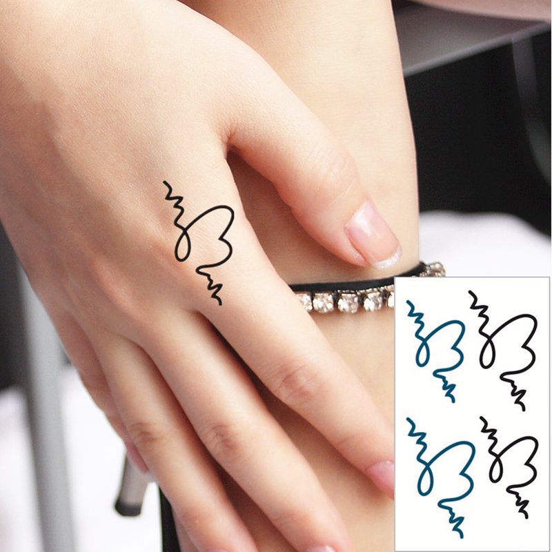 Shnapign Messy Heart Flash Tattoo Hand Sticker 10 5 6cm Small