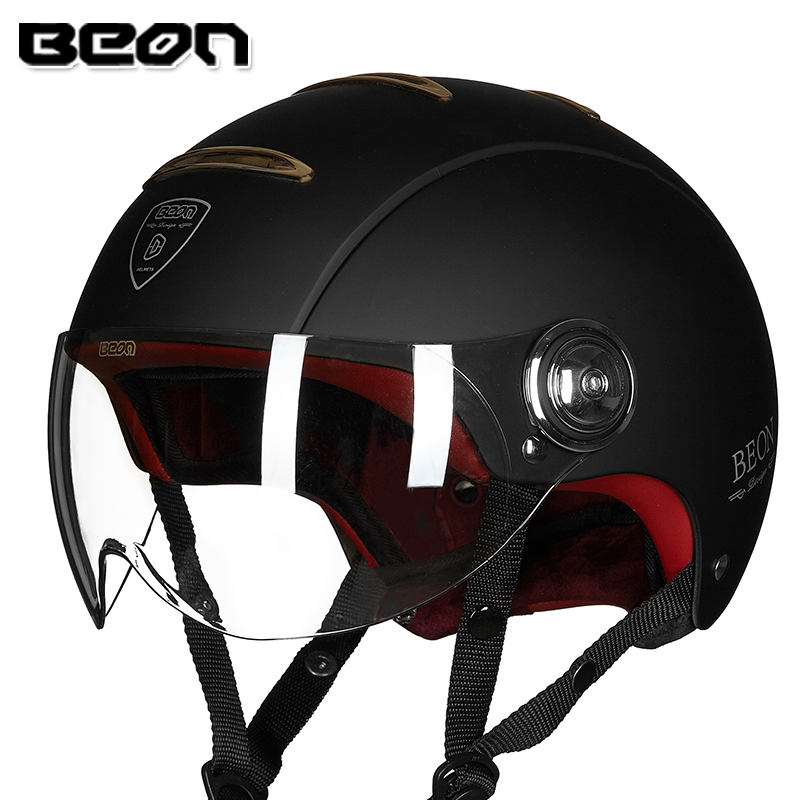 Beon B 105 Vintage Motorcycle Helmet Retro Motorbike Scooter Moto Casque Casco Motocicleta Capacete ECE Approved