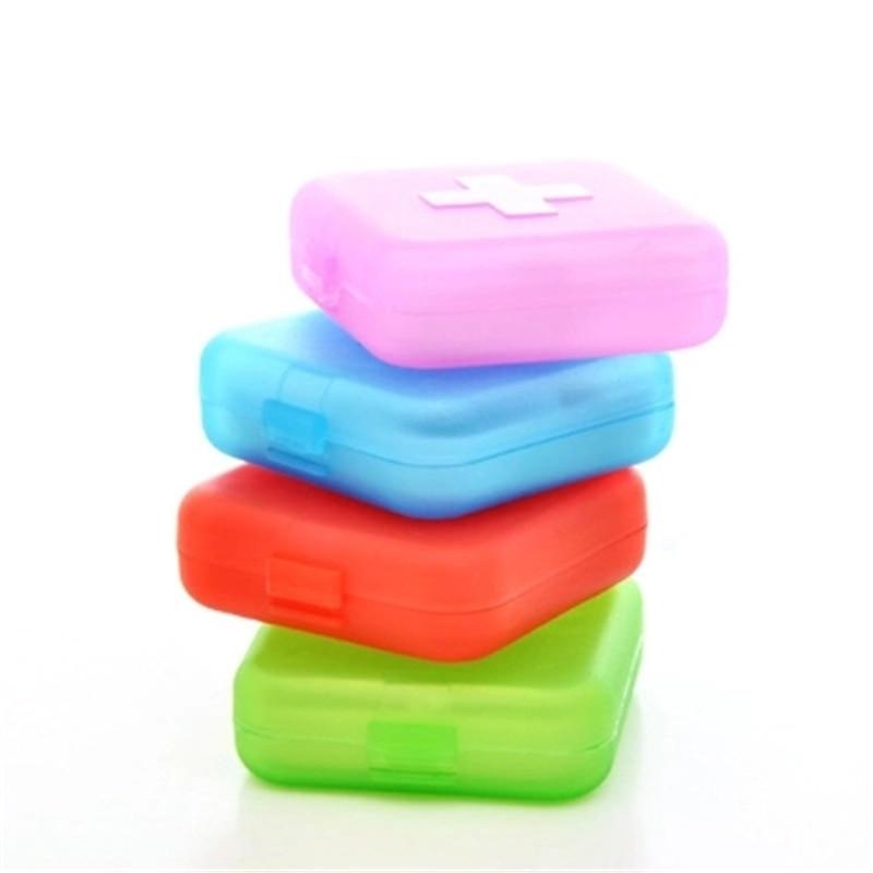 Portable 4 Grids Pill Box Organizer Drug And Tablet Medicine Storage Holder Splitter Case 3