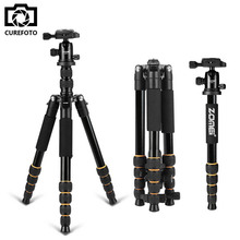 Promo offer Hot Zomei Q666 Professional Tripod For DSLR Camera Ball Head Monopod Tripod Compact Travel Camera Stand for Canon Nikon Sony SLR