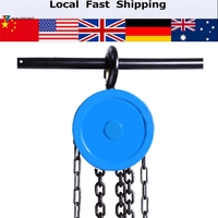 1000kg Pulley Chain Block Chain Hoist Cable Hand Control Pulley Crane 3 6m Manual Block Lift