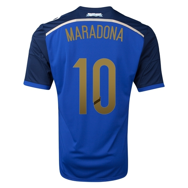 f538a1682c5cd 2014 MARADONA  10 Argentina lejos camisetas de fútbol copa del mundo 2014  New nacional kits