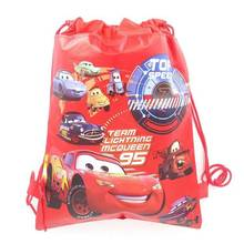 1pcs High Quality Disney Cars Kid Favor Cotton Drawstring Bags Travel Pouch Storage Clothes Shoes Bags School Portable Backpack(China)