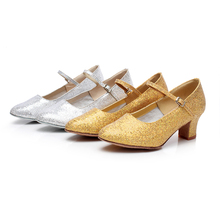 New Arrival Square Heels Modern Dance Shoes For Girl s Ballroom Tango Salsa Latin Dancing Shoes