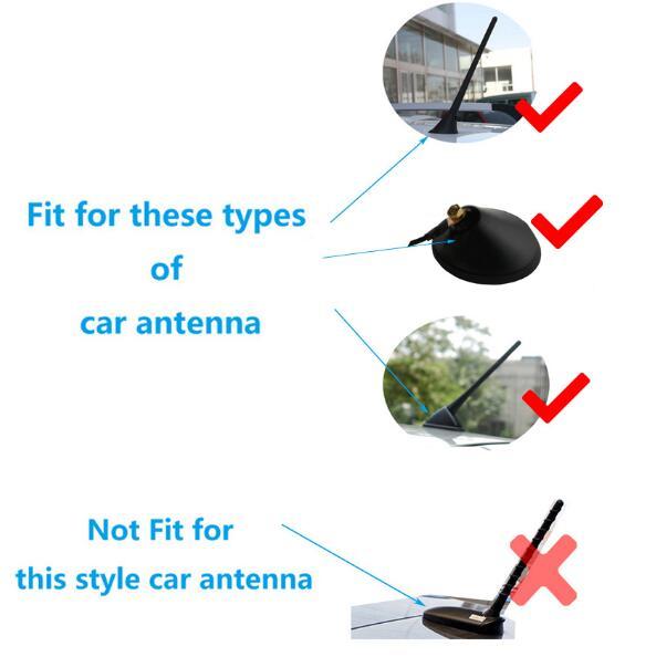 black universal auto car roof antenna shark fin design am. Black Bedroom Furniture Sets. Home Design Ideas