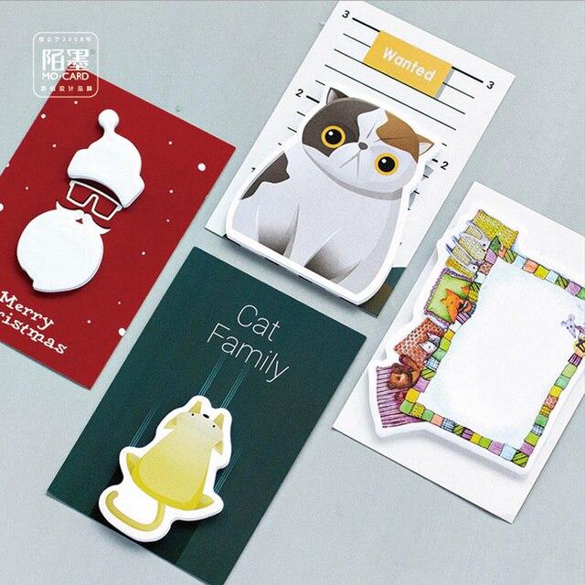 1 Х Смазливая Big fat cat memo pad бумаги sticky notes блокнот post it канцелярские школьные принадлежности материал эсколар papeleria