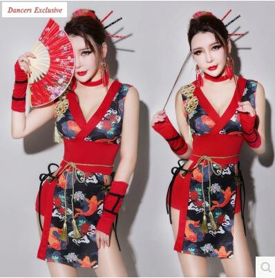2017Sexy Clothing Ds Performance Suits Sexy Bar Retro Wind Cheongsam Dj Female Singer Performance Costumes Chinese Dance Costume ...