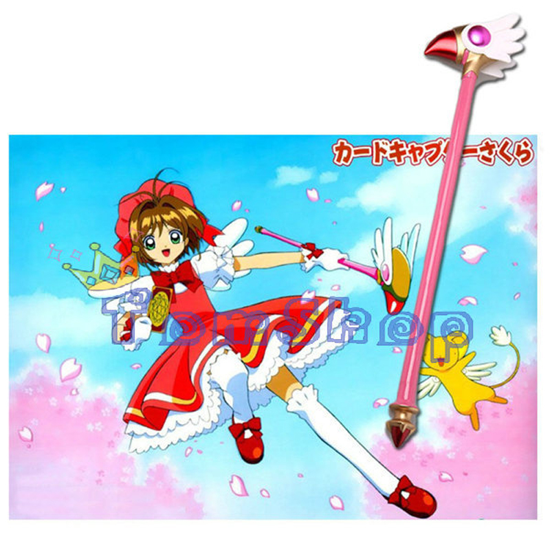 Hearty Free Shipping Card Captor Sakura Kinomoto Sakura Cosplay Props Star Birds Magic Wand Weapon In Stock Costume Props Novelty & Special Use