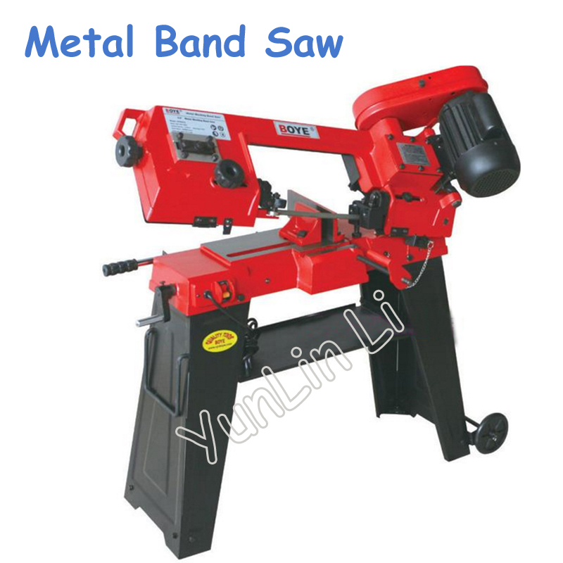 Metal Band Saw 220V 750W Woodworking Sawing Machine With English Manual Wood Cutting Machine