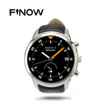 Finow X5 Android 4.4 SmartWatch 1.4″ AMOLED Display 3G WiFi GPS Dual Bluetooth Smart Watch Clock Phone for iOS Android Phone