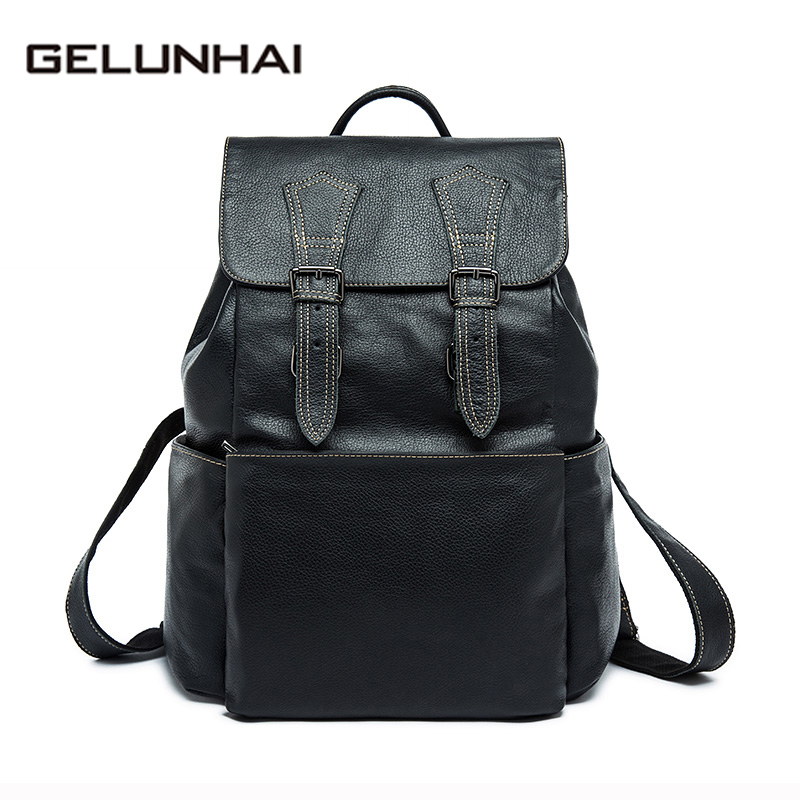 2017 Special Offer Kpop Mochila Feminina Gelunhai Men Backpacks Genuine Leather Man Travel Bag Backpack Male Casual Men's 8387 tvxq special live tour t1st0ry in seoul kpop album