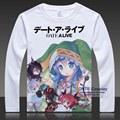 DATE A LIVE Print T-shirts CostumesTokisaki Kurumi Long Sleeve Lovely Yoshino Tops Yatogami Tohka Tees Plus Size