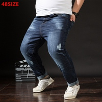 Autumn And Winter New Big Size Pencil Pants People Large Size Fashion Jeans Youth Long Pants