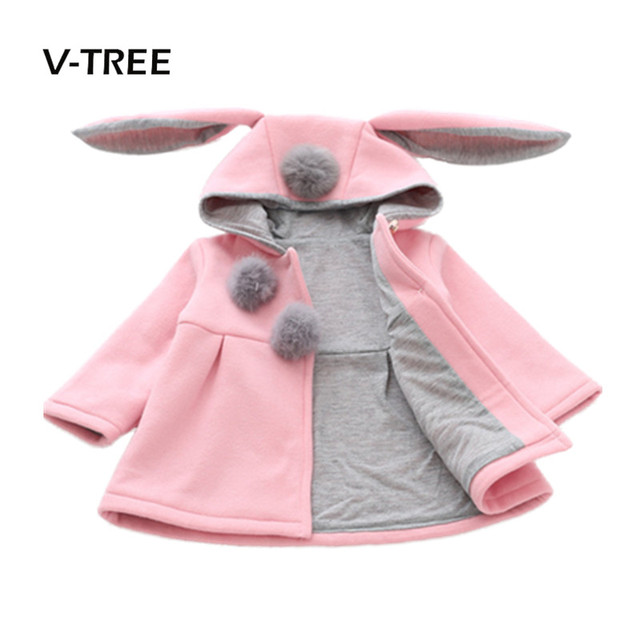 cf00f4bb7 V TREE Autumn Winter Baby Girls Clothing Warm Jacket For Girls ...