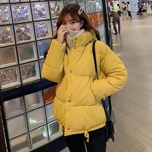 Image 2 - PinkyIsBlack סתיו חורף מעיל נשים מעיל 2019 אופנה נקבה סלעית חורף מעיל נשים קצר מעיילים חם מזדמן מעיל נשי