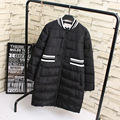 3XL 4XL Plus Size Women Long Parkas 2016 New Warm Thick V-neck Winter Parka Coat Black KK1823