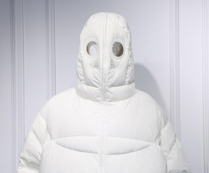 2018 Coupe Fe L'hiver Tenue mâle Pleine vent Parka Amoureux Fermeture Long Veste Capuche Chaud Oversize Manteau Couple De À Glissière azxwHptq