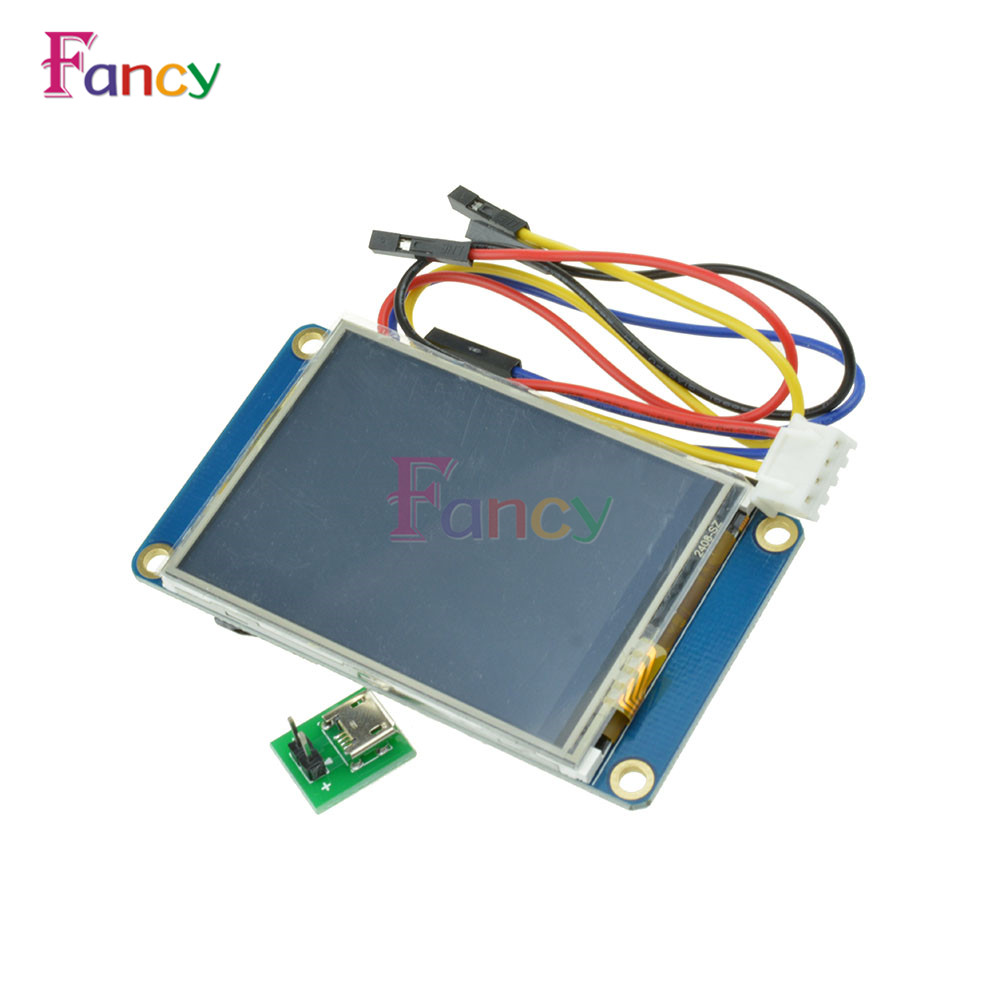 English Nextion 2.4 TFT 320 x 240 Resistive Touch Screen UART HMI Smart Raspberry pi LCD Module Display For Arduino TFT