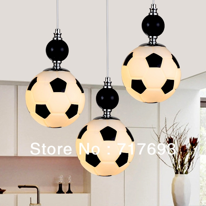 Clic Football Restaurant Modern Minimalist Chandelier Lamp Hallway Lighting With Black And White Children Lights In Pendant From