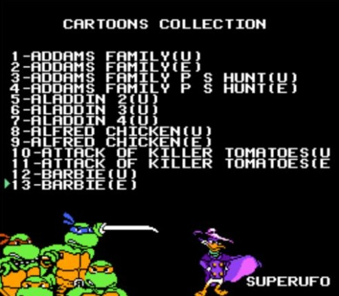 THE AFTERNOON CARTOONS COLLECTION 117 In 1 Game Cartridge For 8 Bit Game Cartridge  60pins Game Cartridge