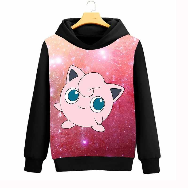 ed53f6f3f07c Pokemon Jigglypuff Mens Hoodies Galaxy Space 3D Sweatshirts Women Men  Casual Hooded Coat Autumn Winter Streetwear