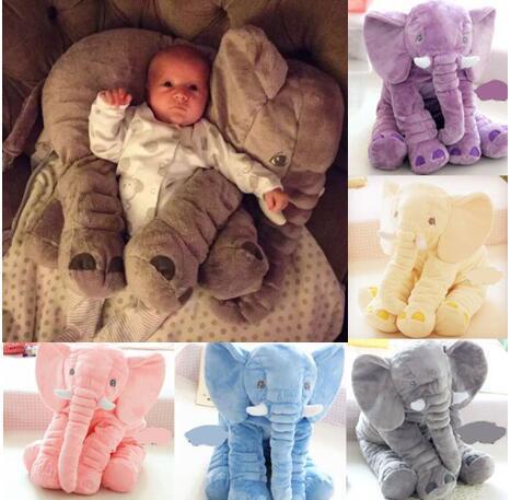 Bonito Elefante de Brinquedo De Pelúcia Com o Longo Nariz Almofadas PP Cotton Stuffed Elefantes Brinquedos Macios Do Bebê