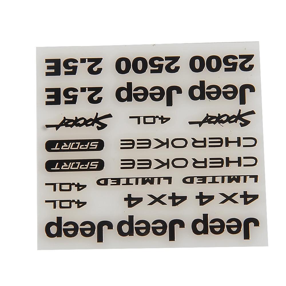 1/10 Scale RC Wrangler Jeep AXIAL SCX10 JEEP JK D90 Logo Marks Stickers Set AX90027 AX90028 AX90034 AX90035
