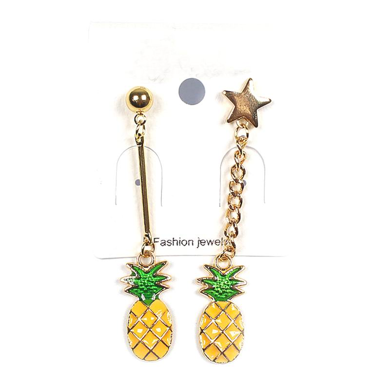 Ab Design Pineapple Long Earrings Simple Personality Sstar Eearring Fashion Jewelry For Women Bijoux Gift Wholesale