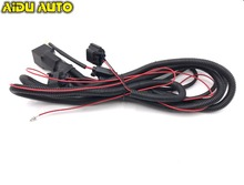 цена на Fog Light Lamp Wires Harness Cable With Fuse For New Polo Golf Jetta MK5 MK6