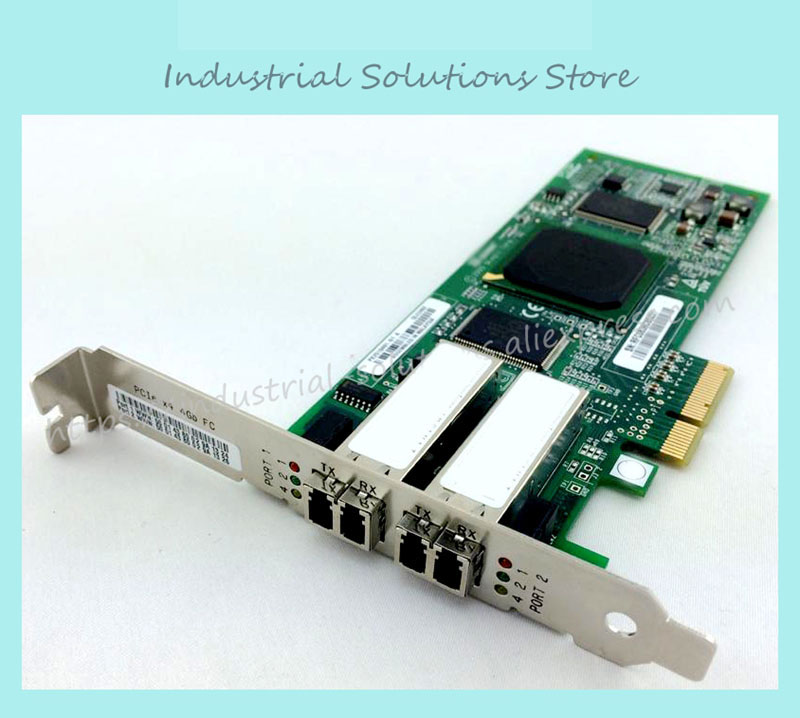 Original card QLE2462 card PCI-E 4GB dual channel optical fiber 100% tested perfect quality цена 2017