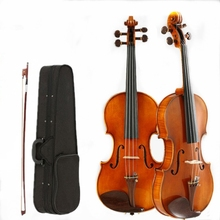 4/4 Violin Handmade Oil Paint Adult Instrument Musical Ebony Maple Spruce Environmental Protection Paint v009