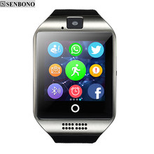 SENBONO Bluetooth Smart watch Q18 Passometer Sport Anti-lost with Touch Screen Camera TF Card Smartwatch for Android pk DZ09 A1(China)