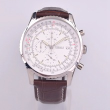 Mens Watches Top Brand Luxury Watch Men corgeut Leather Chro