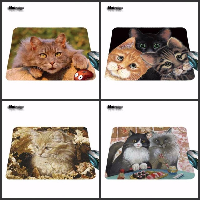 Fashion Customized Cat Mouse Pad aming ear Anti-Slip Durable Rubber Mousepad for...