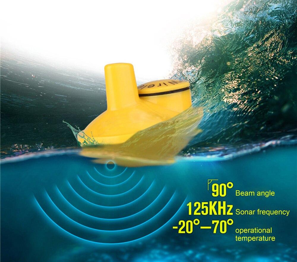 FFW1108-1 chanceux Portable 100 m sans fil détecteur de poisson alarme 40 M/130FT Sonar profondeur océan rivière écho sondeur pour la pêche - 5
